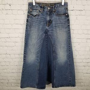 AMERICAN EAGLE   redone jeans skirt